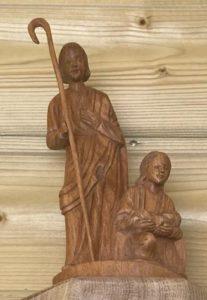 statue saint Joseph Marie et Jésus